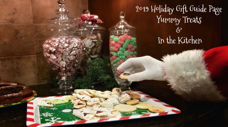 Santa and Cookies - 2019 Holiday Gift Guide Page - Yummy Treats & In the Kitchen