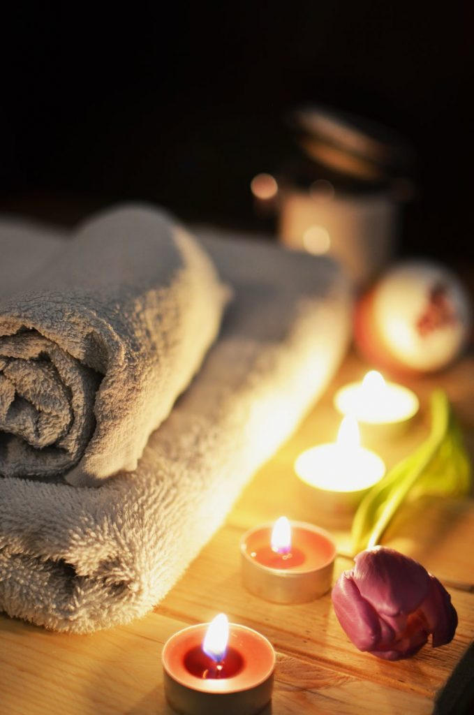 Towels and Candles - Everything You Need for an At- Home Spa Experience
