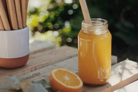 Orange Smoothie - Easy Step Towards Living Greener with Bamboo Straws from theotherstraw