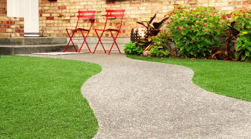 Yard with Walkway and Chairs - Creating a Garden You Can Use All Year Long
