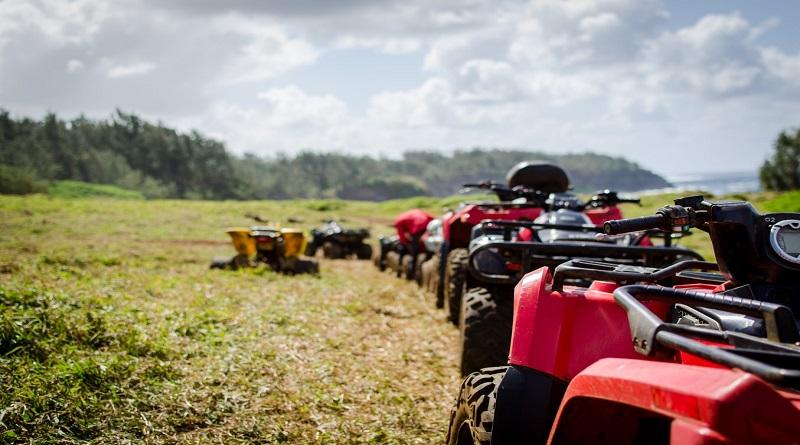 ATV's in Field -
