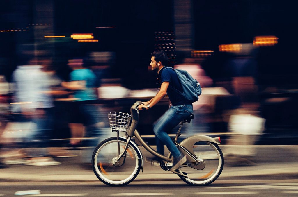 Man riding a bicycle - Here's How To Create Beautiful Images From Basic Things