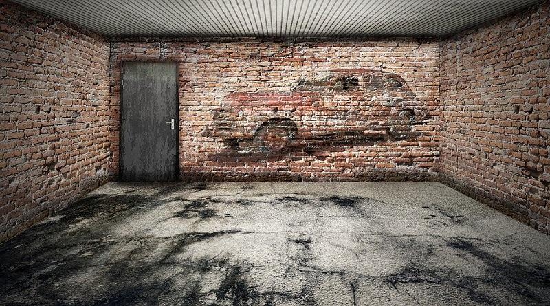 Empty Brick Walled Garage