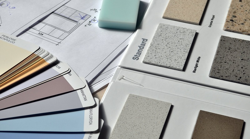 Floor Plans, Paint Swatches, and Tile Samples - Home Renovation