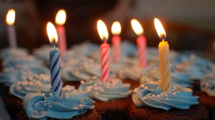 Lit Birthday Candles - Birthday