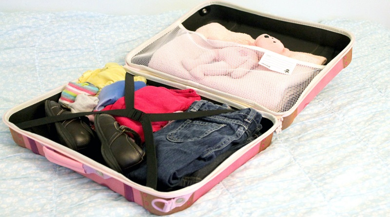 Open Packed Suitcase - Travel Organization