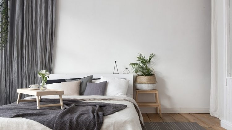 Calm Bedroom with Lovely Bedding - Turning Your Bedroom Into a Sleep Haven