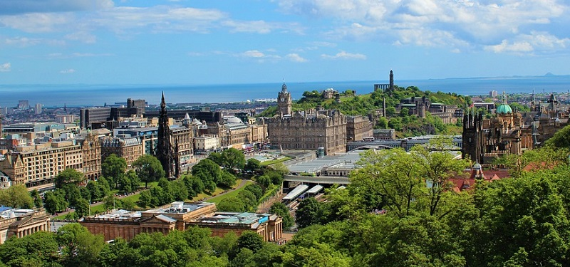 Panoramic City View of Edinburgh - Best Places to Travel in the UK