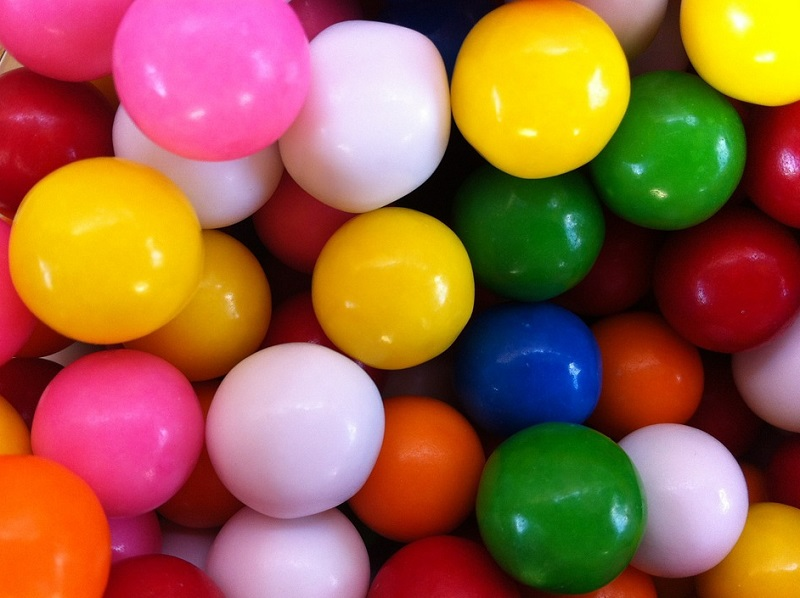 Brightly Colored Gumballs - Keep Your Carpet Clean