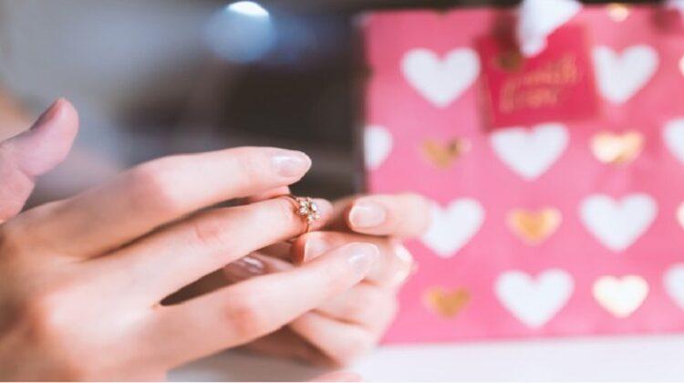 Diamond Ring on Woman's Finger -Custom-Made Diamond Jewellery