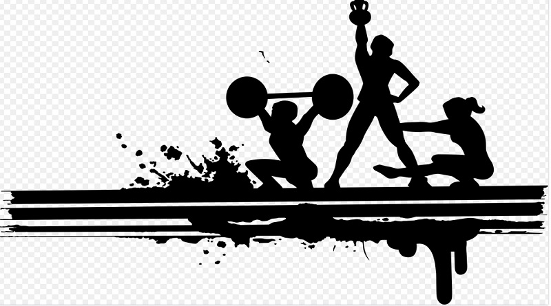 Silhouette of 3 people working out in a gym - Leggings For Gymwear