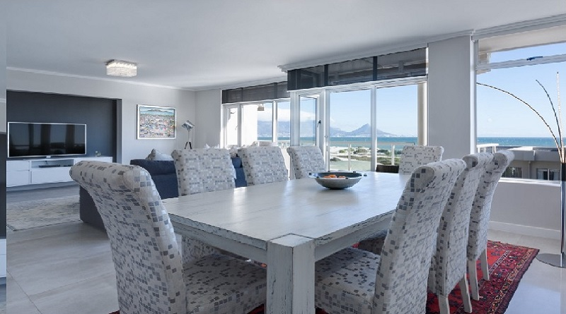 Open Plan Living Dining Room in Grey and White-Dining Room Seating Options
