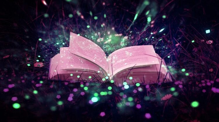 Open book lit with Electroluminescent Wire