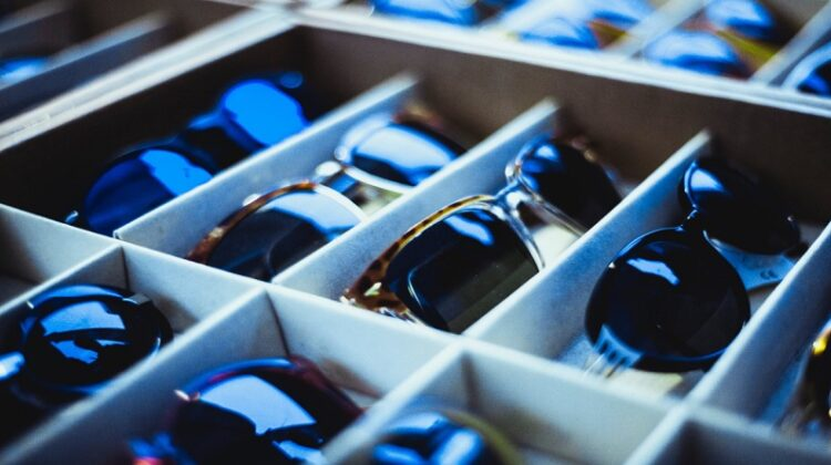 Tray of Prescription Sunglasses