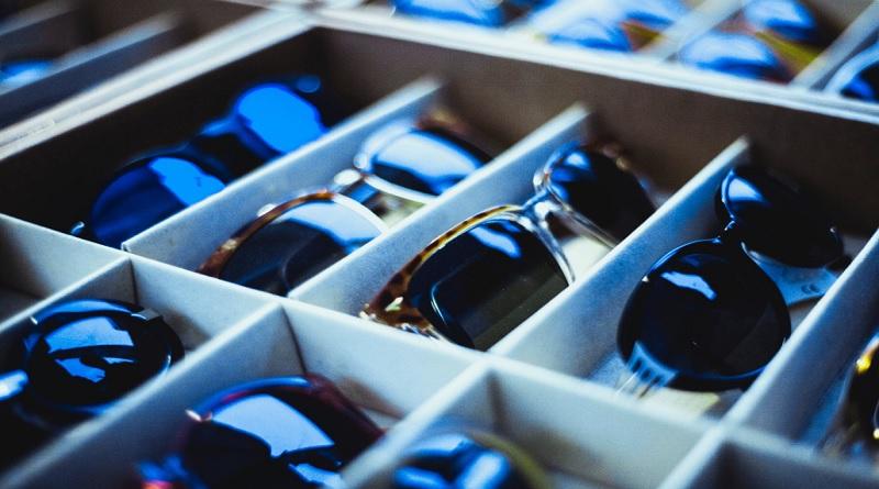 Tray of Prescription Sunglasses