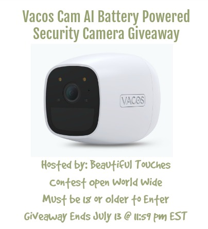 Vacos Cam AI Battery Powered Security Camera Giveaway