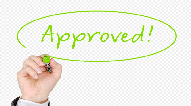 Hand writing the word approved on a white board - Home Loan