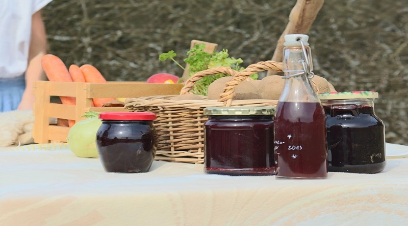 Fresh Vegetables Fruits and Homemade Jams - An Eco Friendly Home