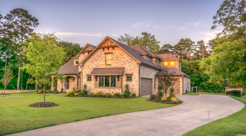 Brick Home with large driveway and beautiful Lawn -
