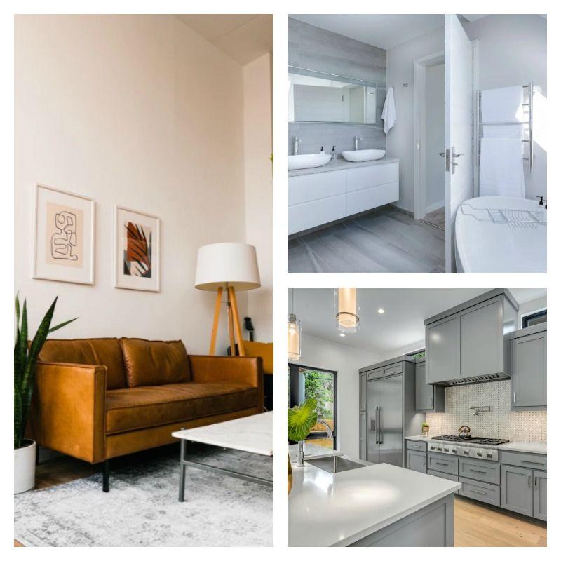 Living Room, Bathroom, and Kitchen - Basic Furniture