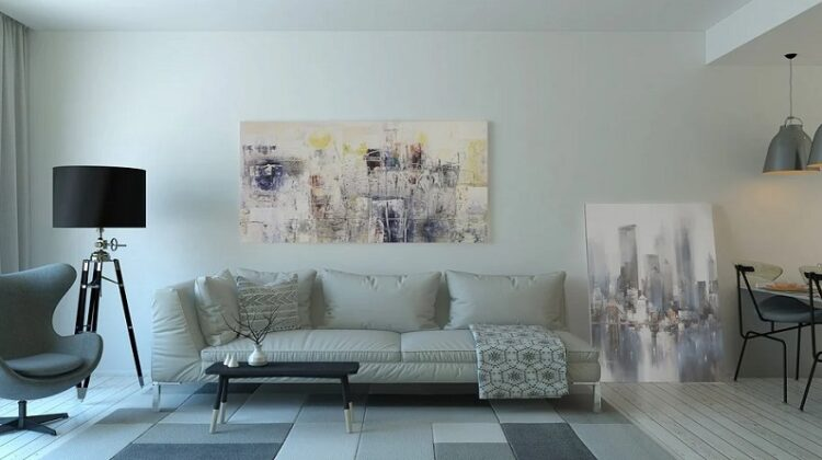 Monotone Living Room - Create A Home That's Easier To Keep Clean