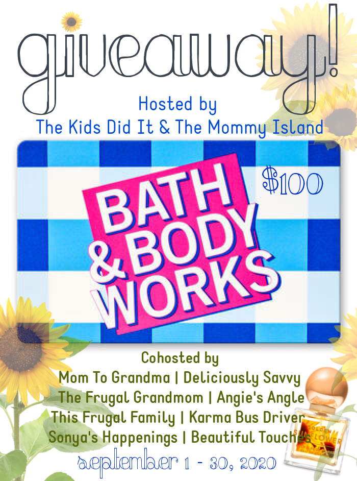 $100 Bath & Body Works GC Giveaway