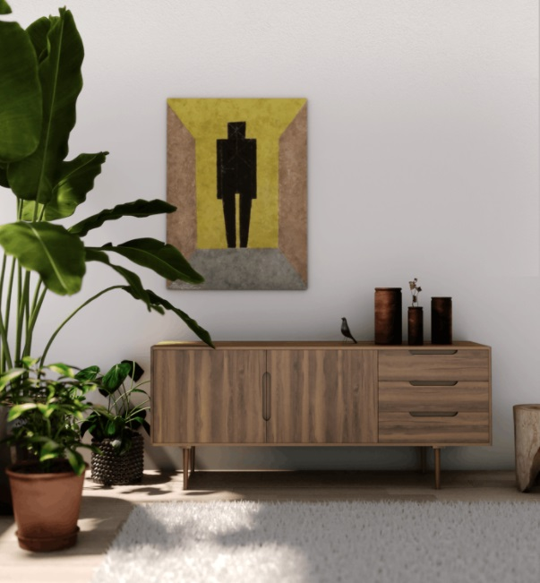 Neutral room with console table and plants - Benefits of Artificial Plants