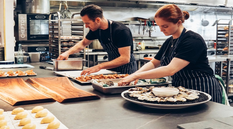 Catering Chefs Working in a Commercial Kitchen - Catering Services