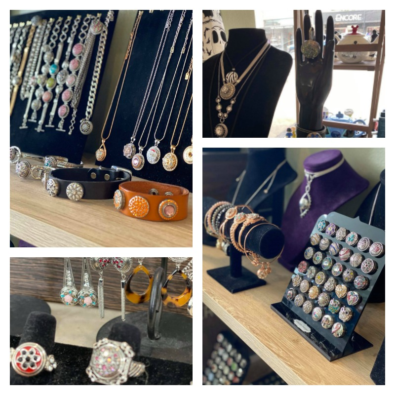 Jewelry in the Gift Shop at Erika's Tea Room