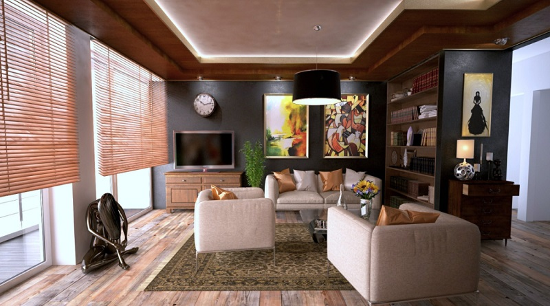 Neutral living room with wood look floors - the Best Flooring for your home