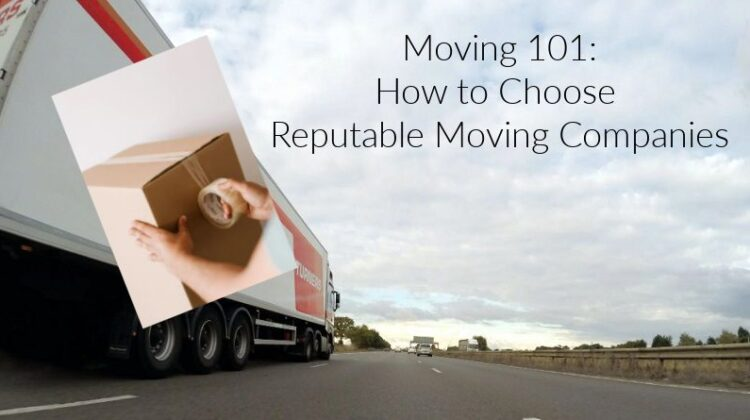 Moving Van on Highway - Reputable Moving Companies