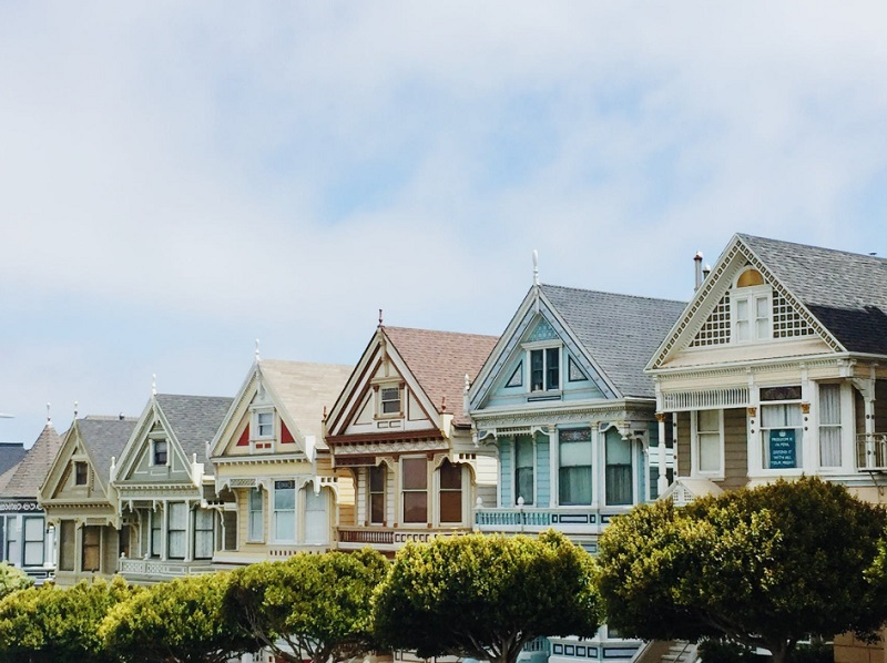 Row of colorful Victorian Style houses - Everything You Need To Know About Mortgages