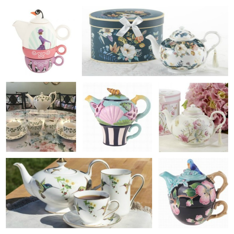 A selection of Tea Pots Available Online at Erika's Tea Room
