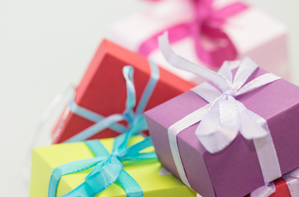 Brightly Colored Wrapped Gifts The Most Impressive Gifts