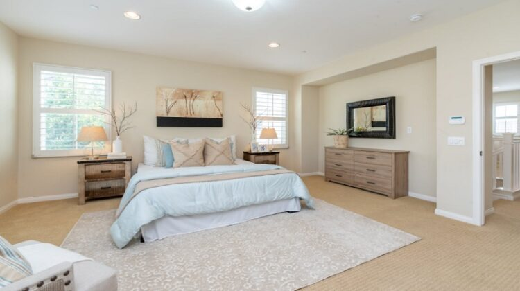 Calm Neutral Bedroom with Pale Blue Accents Feel Happier At Home