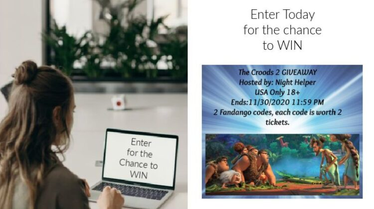 CROODS 2 Movie Tickets Giveaway