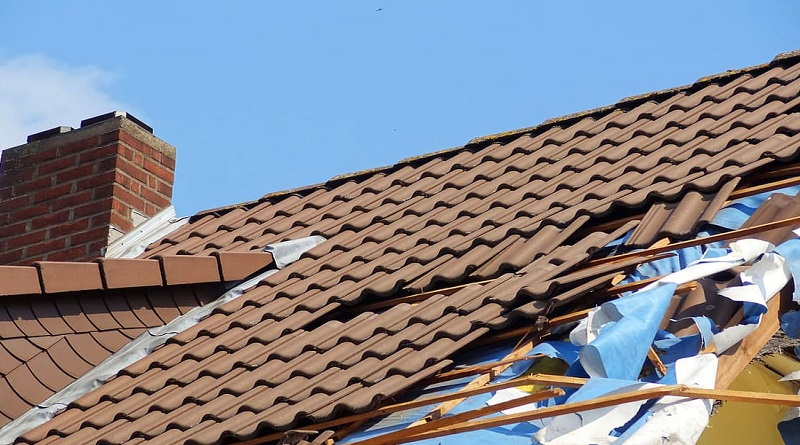 Damaged Roof on House Damage On Your Property