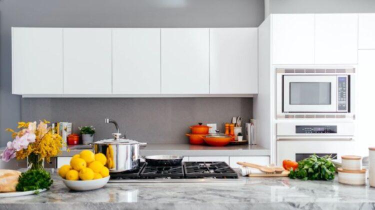 Grey and White Modern Kitchen Pre-Assembled Kitchen Cabinets