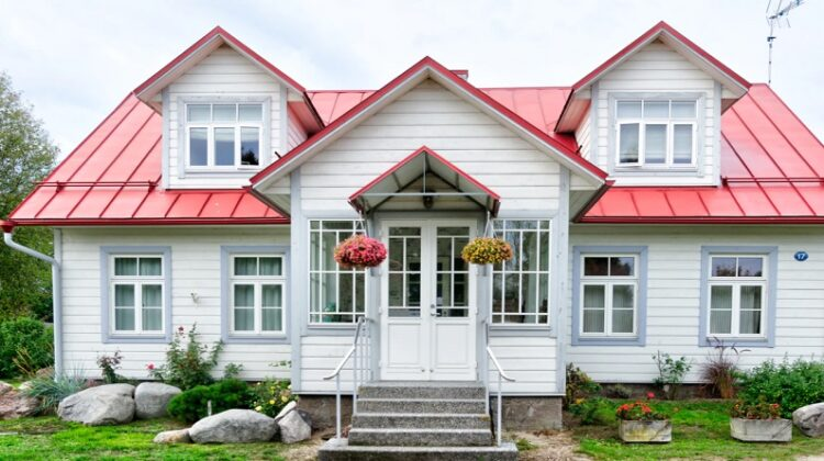Home with Red Metal Roof Make Your Home Stand Out