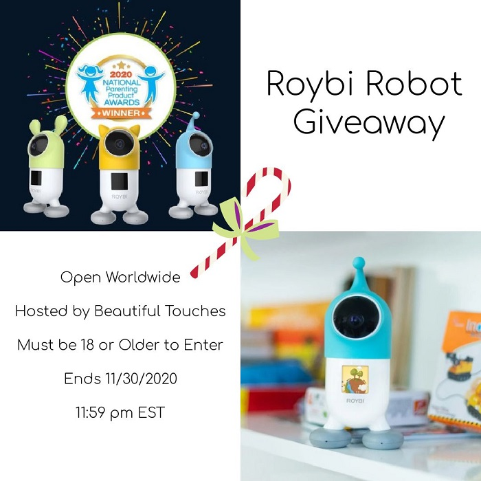 Roybi Robot Giveaway Open Worldwide Hosted by Beautiful Touches