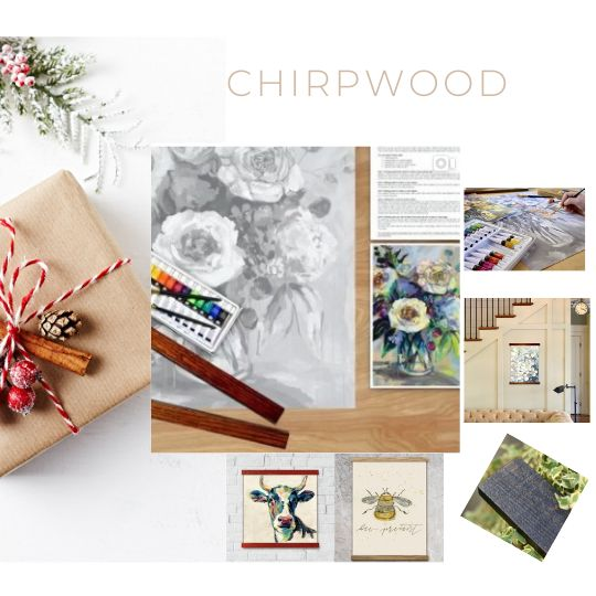High End Painting fun with CHIRPWOOD Art Kits