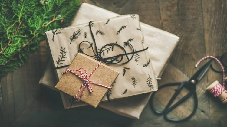 Gifts wrapped in craft paper and tied with string Meaningful Christmas Gifts