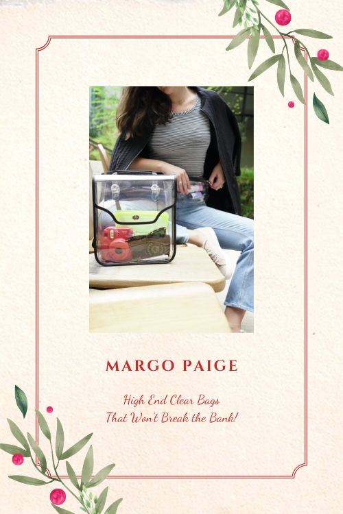 MARGO PAIGE High End Great Priced Clear Bags
