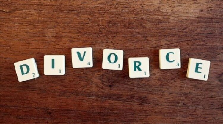 Why a Marriage Ends in Divorce Scrabble Tiles Spelling Divorce