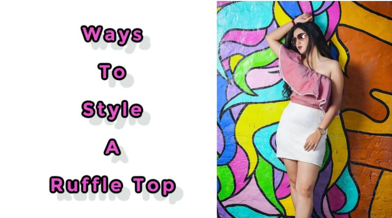 Ways to Style a Ruffle Top Woman in Pink Ruffle Top and White Skirt
