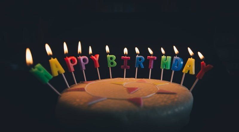 Make A Pandemic Birthday Special Birthday Cake with Lit Candles
