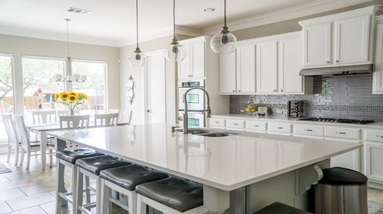 Practical Kitchen Upgrades Beautiful White and Gray Eat In Kitchen