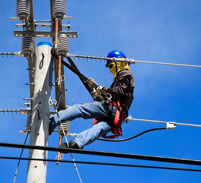 Electrician on Electrical Pole Electrical Problems