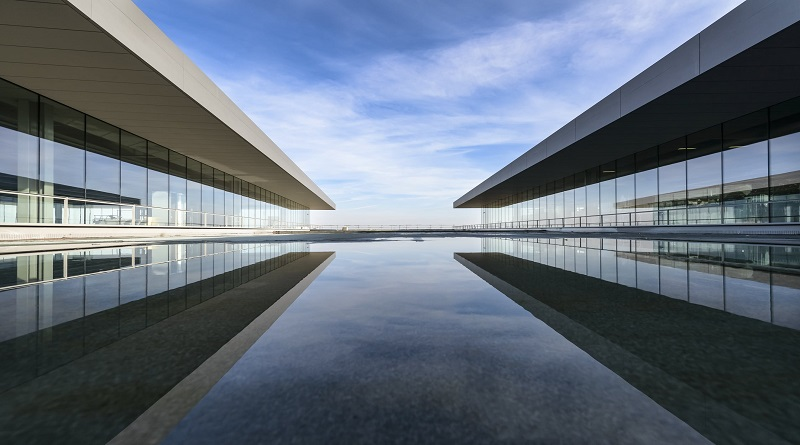 Large Modern Mirrored Buildings Architectural Design Services