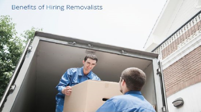Movers loading a moving van